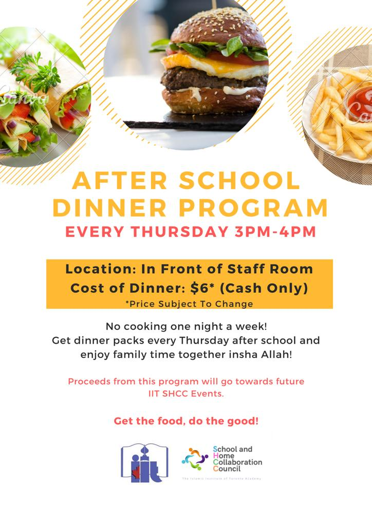 SHCC's Packed Dinner Program